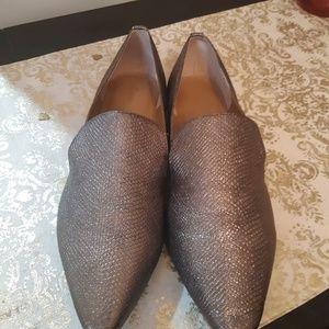 Calvin Klein Elin Foiled Lizard Pointed Toe Loafer